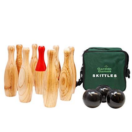Traditional Garden Games 206 - Holz Kegelspiel für draußen