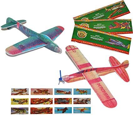 alles-meine.de GmbH 10er Set: Styroporflieger Flugzeug