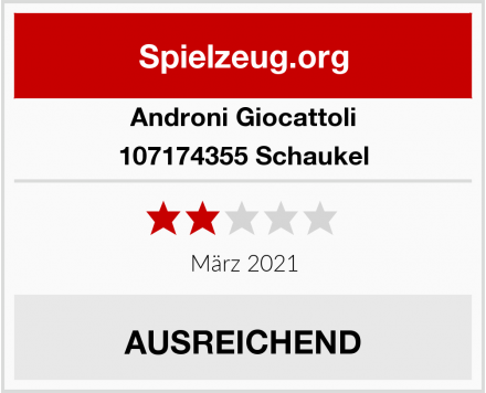 Androni Giocattoli 107174355 Schaukel Test
