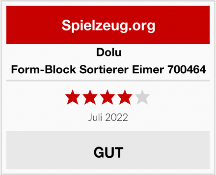 Dolu Form-Block Sortierer Eimer 700464 Test