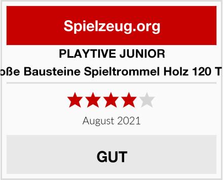 PLAYTIVE JUNIOR  Große Bausteine Spieltrommel Holz 120 Teile Test