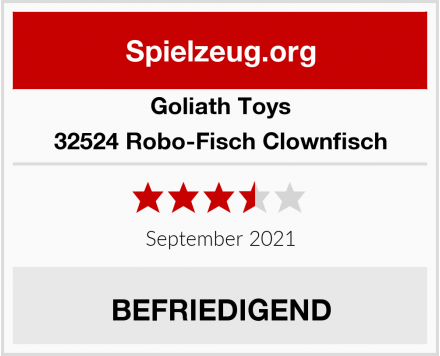Goliath Toys 32524 Robo-Fisch Clownfisch Test