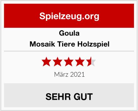 Goula Mosaik Tiere Holzspiel Test