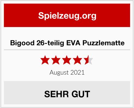 Bigood 26-teilig EVA Puzzlematte Test