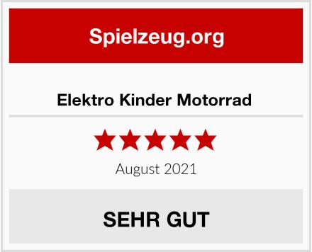 Elektro Kinder Motorrad  Test