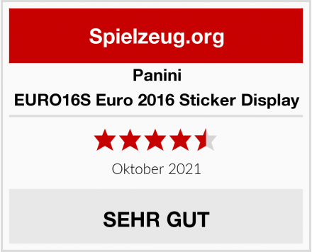 Panini EURO16S Euro 2016 Sticker Display Test