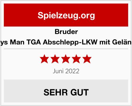 BRUDER 02750 Toys Man TGA Abschlepp-LKW mit Geländewagen Test