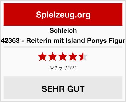 Schleich 42363 - Reiterin mit Island Ponys Figur Test