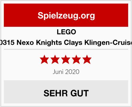 LEGO 70315 Nexo Knights Clays Klingen-Cruiser Test