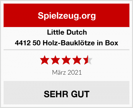 Little Dutch 4412 50 Holz-Bauklötze in Box Test