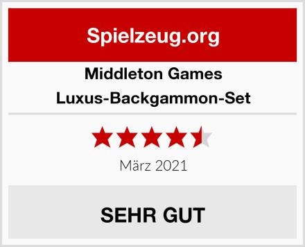 Middleton Games Luxus-Backgammon-Set Test