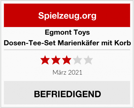 Egmont Toys Dosen-Tee-Set Marienkäfer mit Korb Test
