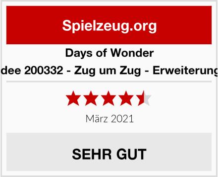 Days of Wonder Asmodee 200332 - Zug um Zug - Erweiterung 1910 Test