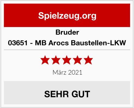 BRUDER 03651 - MB Arocs Baustellen-LKW Test