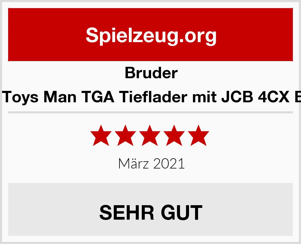 Bruder 02776 MAN 4 CX TOYS MAN TGA Tieflader mit JCB 4CX