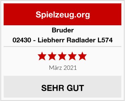BRUDER 02430 - Liebherr Radlader L574 Test