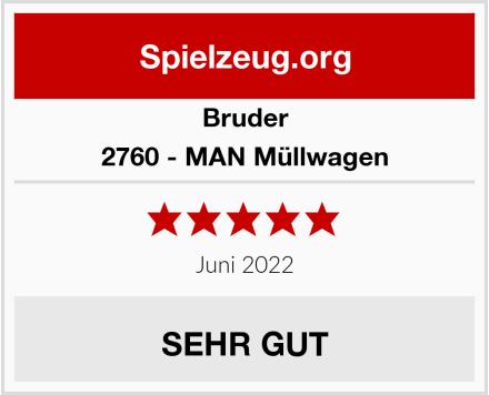 BRUDER 2760 - MAN Müllwagen Test
