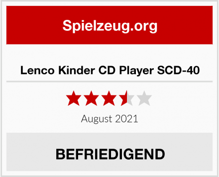 No Name Lenco Kinder CD Player SCD-40 Test
