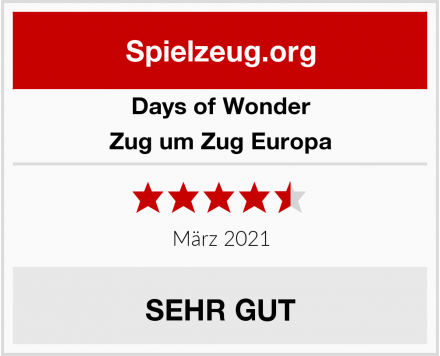 Days of Wonder Zug um Zug Europa Test