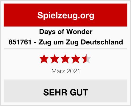 Days of Wonder 851761 - Zug um Zug Deutschland Test