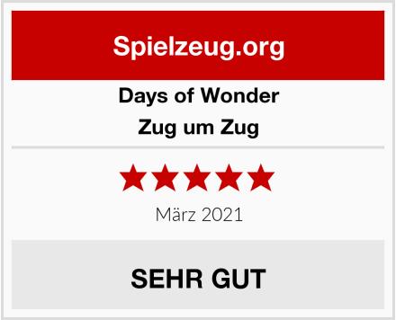 Days of Wonder Zug um Zug Test