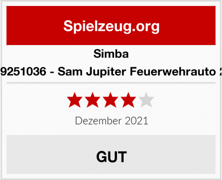 Simba 109251036 - Sam Jupiter Feuerwehrauto 2.0 Test