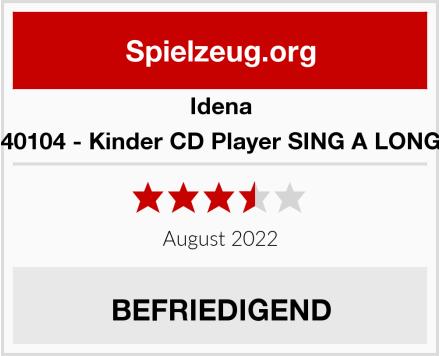 Idena 40104 - Kinder CD Player SING A LONG Test