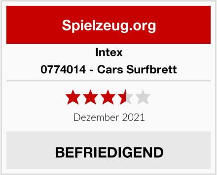 Intex 0774014 - Cars Surfbrett Test