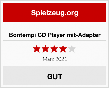 Bontempi CD Player mit-Adapter Test