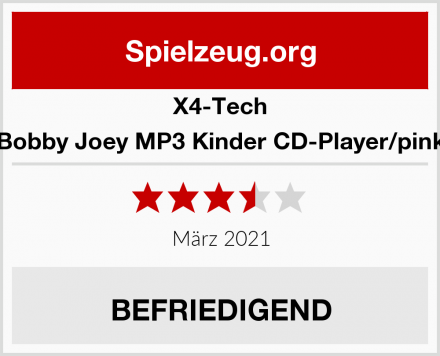 X4-Tech Bobby Joey MP3 Kinder CD-Player/pink Test