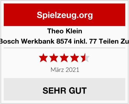 Theo Klein 8335 Bosch Werkbank 8574 inkl. 77 Teilen Zubehör Test