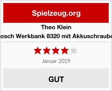 Theo Klein 8310 Bosch Werkbank 8320 mit Akkuschrauber 8402 Test
