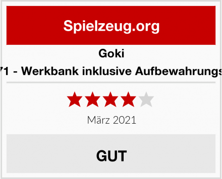 Goki 58871 - Werkbank inklusive Aufbewahrungsbox Test
