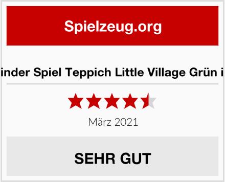 No Name Snapstyle Kinder Spiel Teppich Little Village Grün in 24 Größen Test