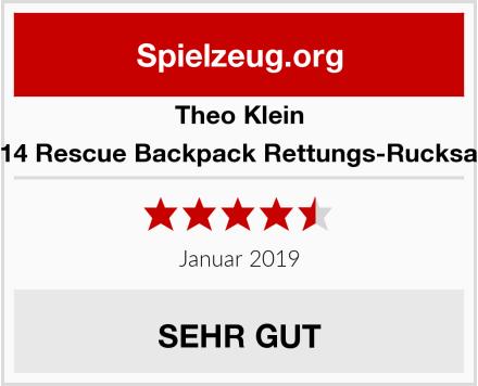Theo Klein 4314 Rescue Backpack Rettungs-Rucksack Test