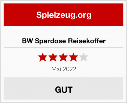 No Name BW Spardose Reisekoffer Test
