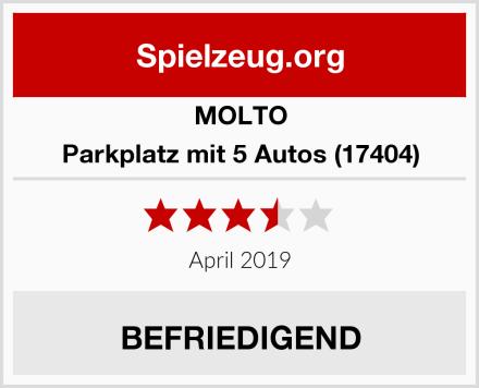 MOLTO Parkplatz mit 5 Autos (17404) Test