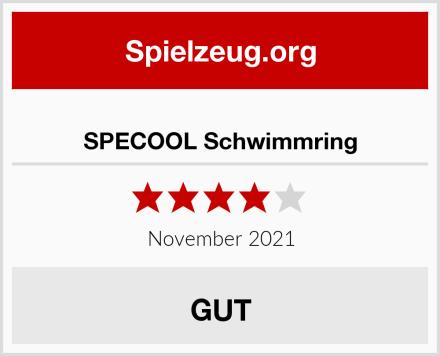 SPECOOL Schwimmring Test
