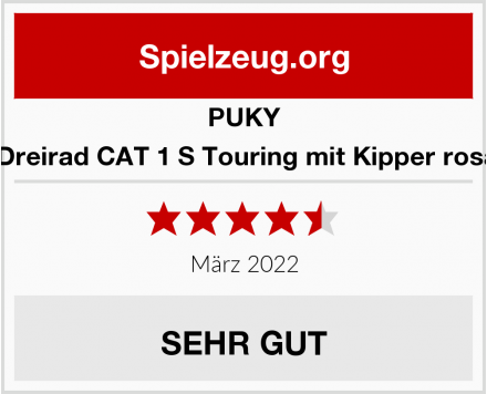 PUKY 2225 Dreirad CAT 1 S Touring mit Kipper rosa/kiwi Test
