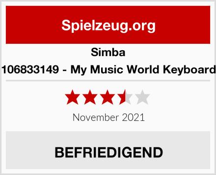 Simba 106833149 - My Music World Keyboard Test