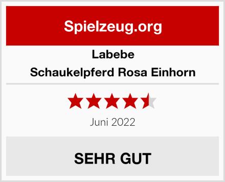 Labebe Schaukelpferd Rosa Einhorn Test