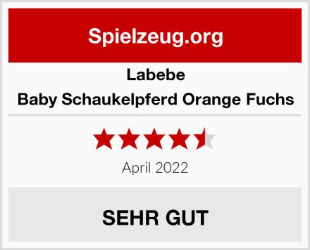 Labebe Baby Schaukelpferd Orange Fuchs Test