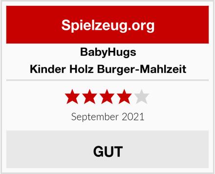 BabyHugs Kinder Holz Burger-Mahlzeit Test