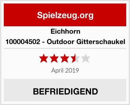 Eichhorn 100004502 - Outdoor Gitterschaukel Test