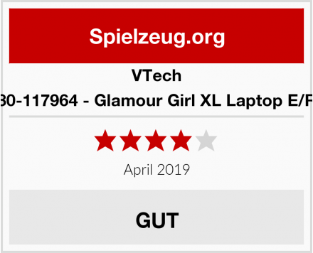 VTech 80-117964 - Glamour Girl XL Laptop E/R Test