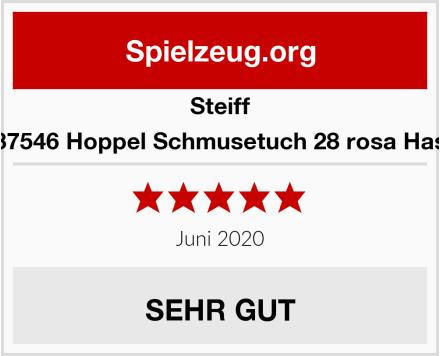 Steiff 237546 Hoppel Schmusetuch 28 rosa Hase Test