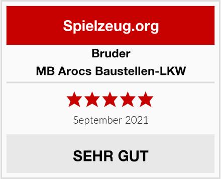 BRUDER MB Arocs Baustellen-LKW Test
