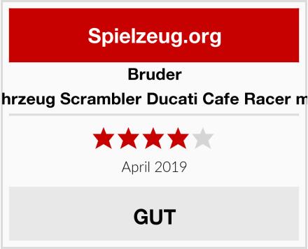 BRUDER 63050 Fahrzeug Scrambler Ducati Cafe Racer mit Fahrer Test
