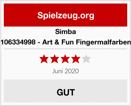 Simba 106334998 - Art & Fun Fingermalfarben Test