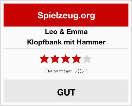 Leo & Emma Klopfbank mit Hammer Test